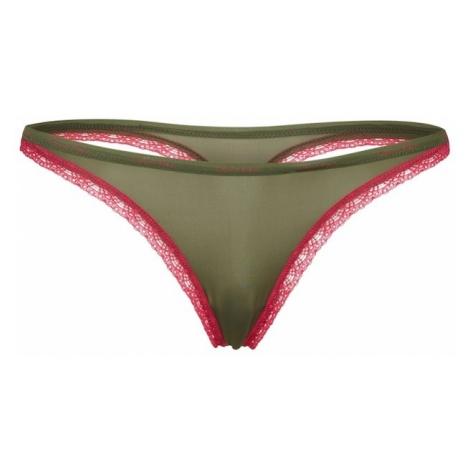 Calvin Klein Underwear Stringi zielony / różowy