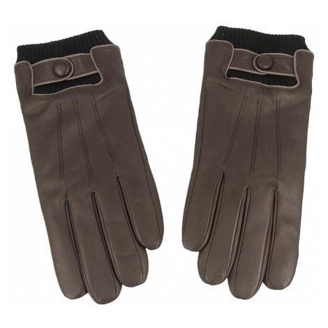 Rękawiczki Męskie GINO ROSSI - AR0103-000-0088-3700-X Brązowy