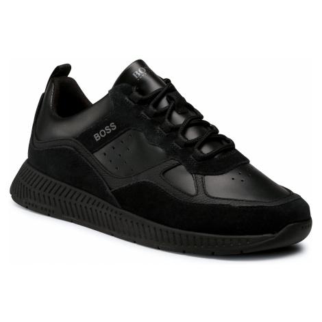 Sneakersy BOSS - Titanium 50440763 10214595 01 Black 001 Hugo Boss