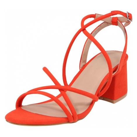 NEW LOOK Sandały z rzemykami czerwony / pomarańczowo-czerwony