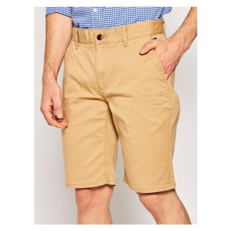 Tommy Jeans Szorty materiałowe Tjm Essential Chino DM0DM05444 Brązowy Regular Fit Tommy Hilfiger