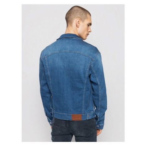 Pepe Jeans Kurtka jeansowa GYMDIGO Pinner PM400908 Niebieski Regular Fit