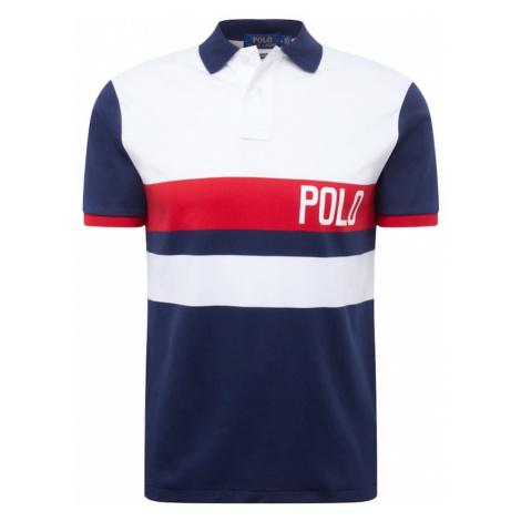 POLO RALPH LAUREN Koszulka 'SOFT TOUCH' ciemny niebieski / czerwony / biały