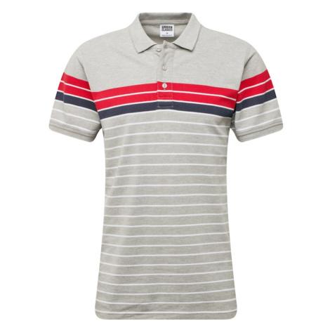 Urban Classics Koszulka czerwony / biały / szary