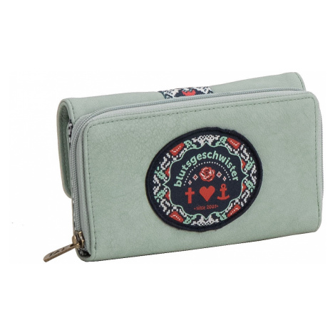 portfel Blutsgeschwister Buy The Right Things Purse - Mint Leather