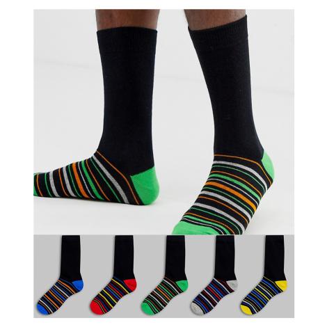 Brave Soul 5 pack stripe socks