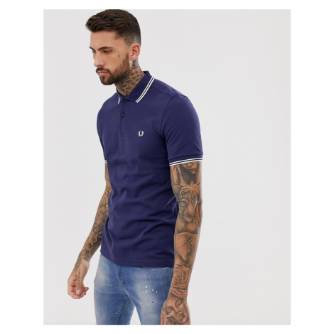 Fred Perry twin tipped polo in navy