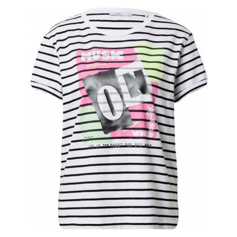 EDC BY ESPRIT Koszulka biały / czarny / różowy / jasnożółty / jasnozielony