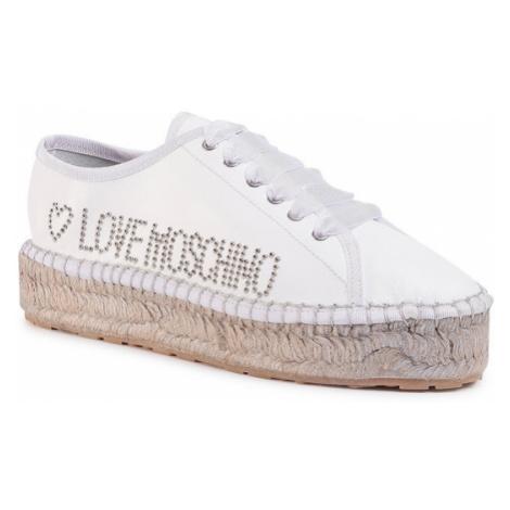 LOVE MOSCHINO Espadryle JA10403G0AJA0100 Biały