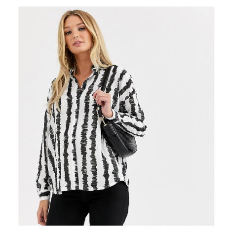 ASOS DESIGN Maternity long sleeve shirt in stripe print