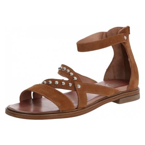 MJUS Sandały z rzemykami 'GRAM' brązowy