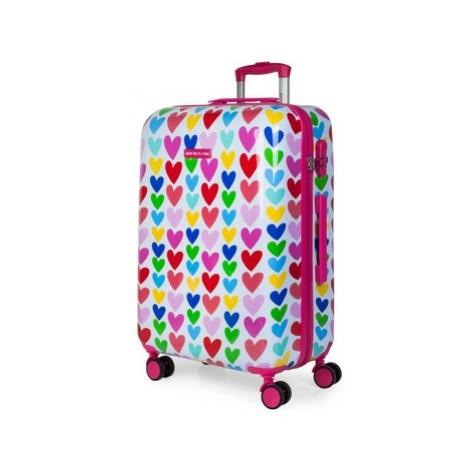 Różowe damskie walizki