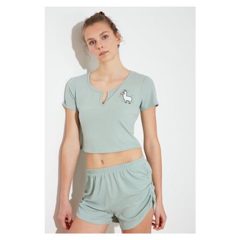 Trendyol Mint Kaskorse Knitted Pyjama Set