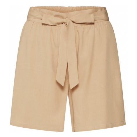 VILA Spodnie 'VIAMONA SHORTS' beżowy
