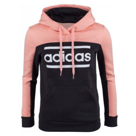 adidas LIN CB HOODIE czarny XS - Bluza damska