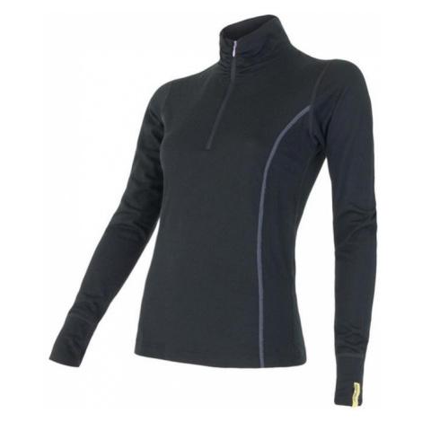 SENSOR Termoaktywna bluzka damska MERINO ACTIVE TEE LS ZIP-XL-Malinowy