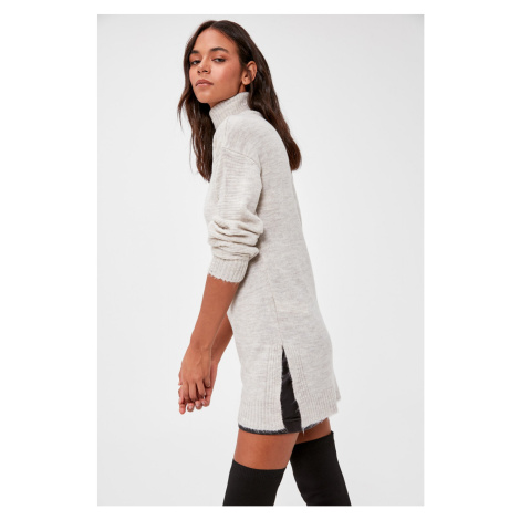 Trendyol Grey Turtleneck Knitwear Sweater
