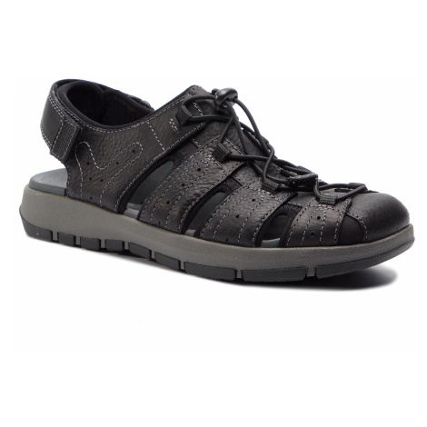 Sandały CLARKS - Brixby Cove 261338917 Black Leather