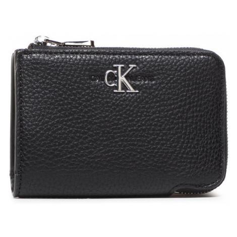 Calvin Klein Jeans Mały Portfel Damski Zip Around J K60K607238 Czarny
