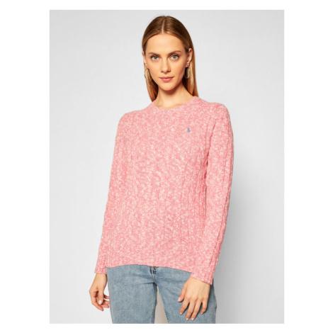 Polo Ralph Lauren Sweter 211801522004 Różowy Regular Fit