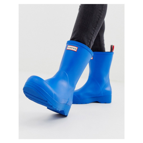 Hunter mens wellington boot in blue