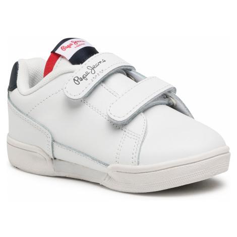 Sneakersy PEPE JEANS - Lambert Britt Kids PBS30488 White 800
