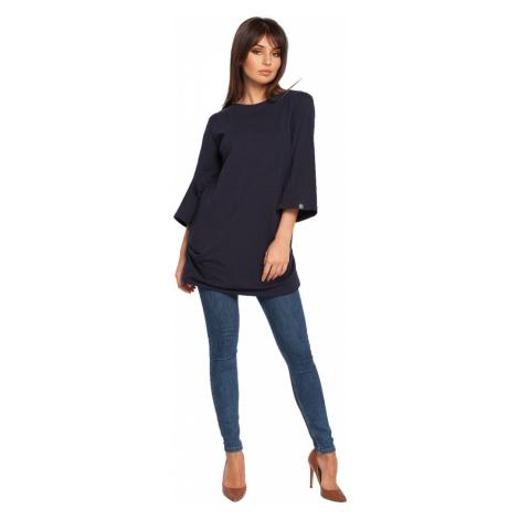 BeWear Woman's Blouse B015 Navy Blue