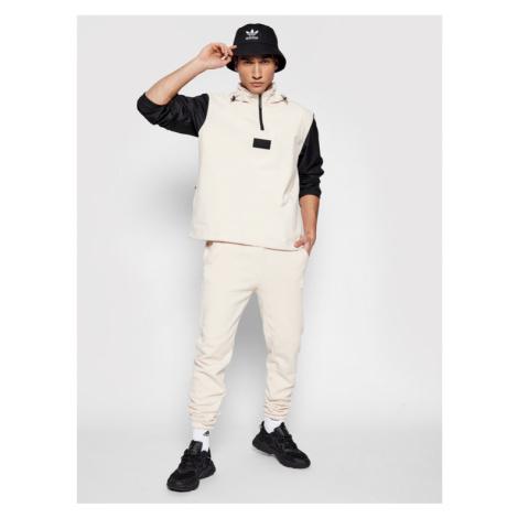 Adidas Spodnie dresowe R.Y.V. Silicone Double Linear Badge GN3301 Beżowy Regular Fit